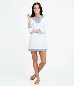 Embroidered Terry Cloth Cover-Up on Wanelo