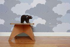 Aimee Wilder - Clouds Storm Wallpaper by Aimee Wilder Monchichi Baby, Storm Wallpaper, Contemporary Wallpaper, Perfect Wallpaper, Kids Decor, Home Decor, Designer Wallpaper, All Modern, Cute Wallpapers