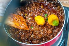 mbakhal sauce - Senecuisine - cuisine sénégalaise Senegalese Recipe, Ghanaian Food, Chili, Ethnic Recipes, African Recipes, Food And Drink, Soup, Chicken