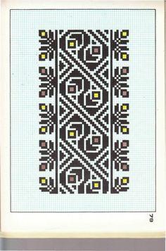 Cross Stitch Charts, Cross Stitch Patterns, Border Pattern, Canvas Patterns, Hama Beads, Textile Art, Embroidery Patterns, Diy And Crafts, Cool Designs