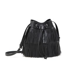 Fringed Tassel Shoulder Bags Crossbody Black Girls Bags Messenger Women  Handbag New Fashion Bags Gifts For Women 6774cf548be00