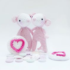 Love heart mouse. Free pattern
