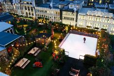 London's Cute Rooftop Ice Rink Opens Above Oxford Street This Week John Lewis Roof Garden, Roof Gardens London, Rooftop Gardens, Clapham Common, Cosy Winter, London Christmas, Ice Rink, Roof Architecture, Pergola Attached To House