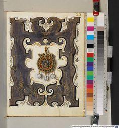 A visual inventory of the jewelry of Anna von Bayern  Lots of pretty images for jewelry makers Kleinodienbuch der Herzogin Anna von Bayern - BSB Cod.icon. 429 München 1552 - 1555