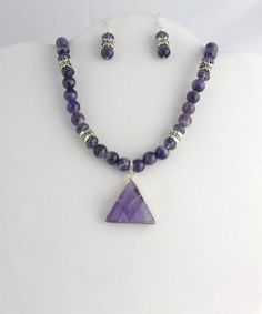 AMETHYST NECKLACE Listing  41773351 by Ptcreationsjewelry on Etsy, $52.00
