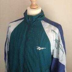 Image of VINTAGE REEBOK TRACK JACKET M Vintage Windbreaker, Reebok, Adidas Jacket, Track, Athletic, App, Jackets, Image, Fashion
