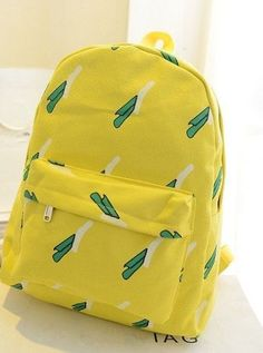 2016 Wholesale Fashion Ice Cream Canvas Banana Women Backpack School Bag Small Student Bag Female College Shoulder Bag