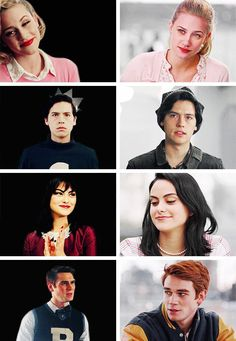 The Main Riverdale Four: Classic vs Modern Grew Up with the Classic, Now contemplating the death of the American Dream. Riverdale Archie, Bughead Riverdale, Riverdale Memes, Betty Cooper, Alice Cooper, Lying Game, Youtubers, Betty & Veronica, Girls First Communion Dresses