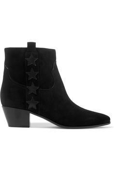 SAINT LAURENT Star-appliquéd suede ankle boots  $995.00 https://www.net-a-porter.com/product/757533