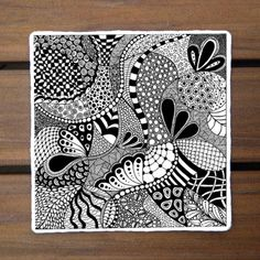 Zentangle Patterns For Beginners | The Captured Fig, Zentangle: Pattern-Drawing as Meditation