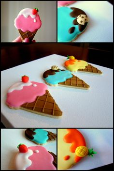 icecream cone shaped sugar cookies
