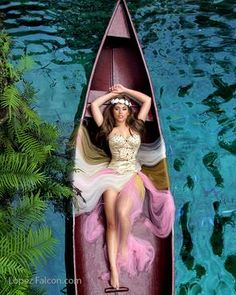 66baf44aee7 QUINCEANERA WITH CANOES CANOE IN SECRET GARDENS LOCATION PLACE FOR RENT
