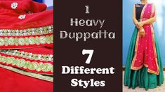 We all have heavy duppattas in our Wardrobe. After wearing it few times,We have no idea about how to restyle these expensive duppattas. We present you 7 Supe. Lehenga Dupatta, Just Style, Indian Designer Outfits, Bollywood Celebrities, Different Styles, Diy Fashion, Blouse Designs, Stylish Outfits, Suits