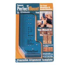 $4.13-$9.00 Baby Whether youre mounting knobs or pulls, these templates make alignment fast, easy and most important - precise! Simply select the hole that suites your needs, mark, drill and mount. Its as simple as that! Perfect Mount for Cabinet Doors has five knob and four pull positions.