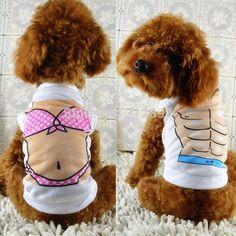 Verão Sexy biquíni e colete muscular colete cão para animais de estimação cães e trajes alishoppbrasil