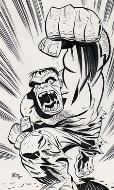 Incredible Hulk by Bruce Timm, 2003 Bruce Timm, Comic Book Artists, Comic Artist, Comic Books Art, Hq Marvel, Marvel Comics, Hulk Art, Hulk Comic, Comic Art Community