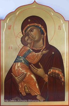 Religious Images, Religious Icons, Religious Art, Byzantine Icons, Byzantine Art, Orthodox Catholic, Roman Church, Mama Mary, Mary And Jesus