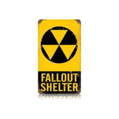 """Fallout Shelter 8"""" X 14"""" Vintage Metal Sign"""