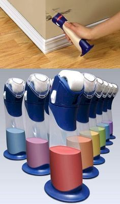 Paint buddy by Rubbermaid ~ empty remainder can of paint into the paint buddy and touch up when ever you need to