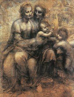 """聖アンナと聖母子(ロンドン版)、(Zöllner, F., """"Leonardo"""")"""