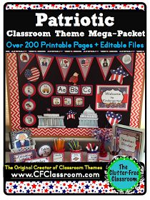 Clutter-Free Classroom: FREE Patriotic Printables and More {Pledge of Allegiance, Constitution Day, Veterans Day, Patriotic Classroom Theme}