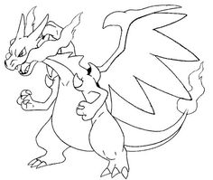 Mega Charizard X Coloring Pages | Pokemon party | Pinterest ...