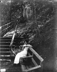 A quiet nook, Victoria Park, Truro, NS, c. 1915.