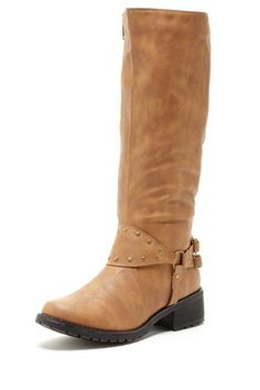 Charles Albert Kapas Tall Stud Trim Boot