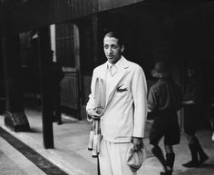 "French tennis sensation Rene Lacoste (""Le Croc"") won the Davis Cup in 1932 at Wimbledon but is best known for simplifying tennis-wear and adding an embroidered crocodile motif to his shirt, an early hallmark of preppy style."