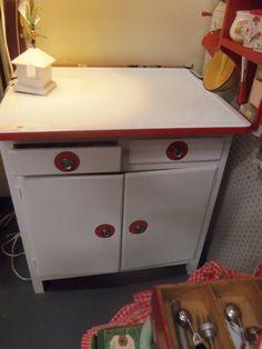 VINTAGE KITCHEN SINK / CABINET -ENAMEL STEEL W/ Drawers | Vintage ...