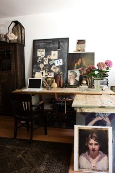 love this eclectic space and the desk would work for my art work.