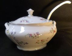 Soup Tureen With Ladle 171 by RubyLaneTreasures on Etsy