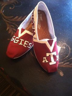 Hand painted Toms  Texas A&M