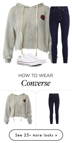 """Untitled #2786"" by laurenatria11 on Polyvore featuring Sans Souci, Levi's and Converse"