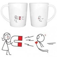 Couple Coffee Mug Set. Cute!