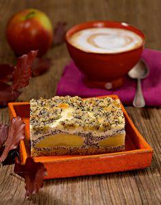 Apfel-Mohn-Quark-Streuselkuchen Streuselkuchen mit Äpfeln und Mohn vom Blech