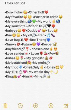 Nicknames For Bestfriends, Cute Boyfriend Nicknames, Funny Nicknames For Friends, Cute Names For Boyfriend, Cute Nicknames, Best Friends Funny, Good Snapchat Names, Snapchat Nicknames, Funny Contact Names