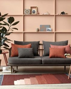 8 Pink walls ideas for a tropical summer - Daily Dream Decor Living Room Designs, Living Room Decor, Bedroom Decor, Orange Home Decor, Mid Century Decor, Pink Walls, Living Room Inspiration, Home Decor Accessories, Colorful Interiors