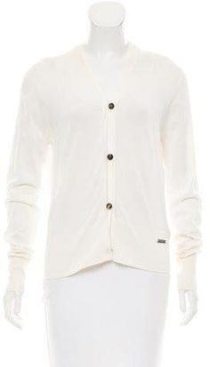 Burberry Lightweight V-Neck Cardigan