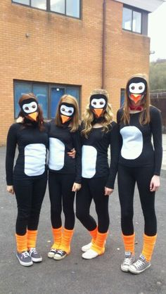 Made our own penguin costumes! C R E A T I V E