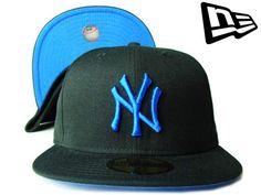 """【ニューエラ】【NEW ERA】59FIFTY カラーアンダーバイザー  NEW YORK YANKEES """"NY"""" ブラックXコバルトブルー【ニューヨーク・ヤンキース】【5950】【newera】【帽子】【NYC】【キャップ】【NY】【cap】【黒】【black】【blue】【あす楽】【楽天市場】"""