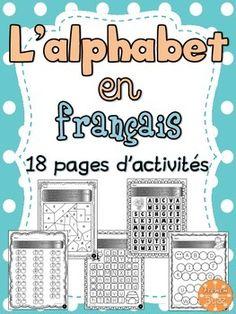 L'alphabet - 18 pages d'activités pour pratiquer les lettres majuscules et minuscules.