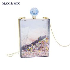 ==> [Free Shipping] Buy Best MAX&MIX Super Recommendation Women Transparent Clear Box Clutch Acrylic Evening Handbag Cross Body Transparent Perspex Purse Bag Online with LOWEST Price | 32787693991