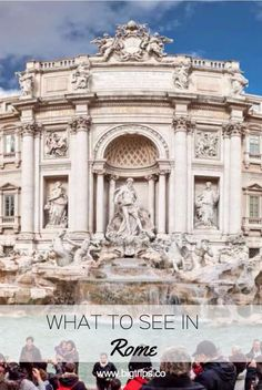 Fontana di Trevi. What to see in Rome, Italy. All places on the map.  #rome #italy #travel