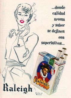Raleigh cigarettes ad (Mexico, 1960s)