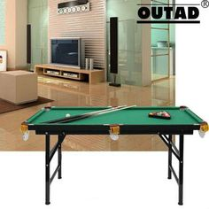 Mini Billiard Table Foldable Pool Portable With Cue Ball Sport Toy