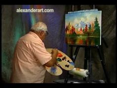 Bill Alexander paints Holiday Mountain part 3/3 wet on wet oil painting art