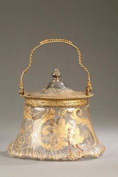 1390: MONTAJE WASHINGTON / Pairpoint GALLETA JAR
