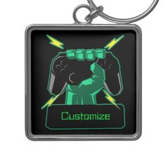 Shop Personalized Power Gamer Square Key Chain created by ManCavePortal. Wedding Invitation Wording, Invitation Cards, Charm Rings, Pvp, Personal Shopping, Activity Games, Key Chain, Art For Kids, Party Supplies