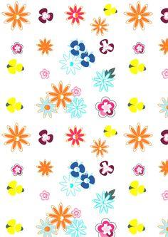 Free digital floral scrapbooking paper doodle - ausdruckbares Geschenkpapier - freebie | MeinLilaPark – DIY printables and downloads